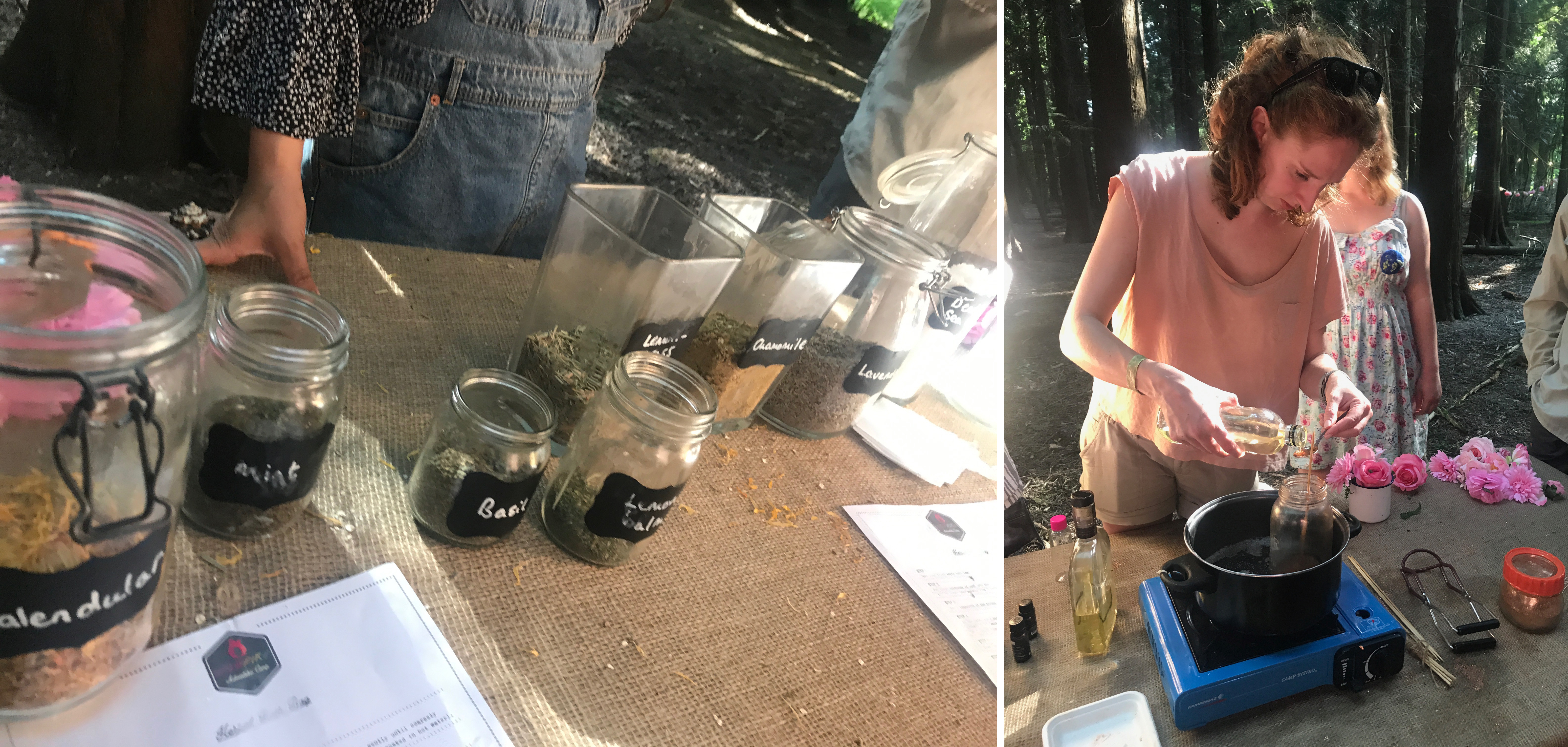 Making natural products in the shady woods with Wildfire Apothecary