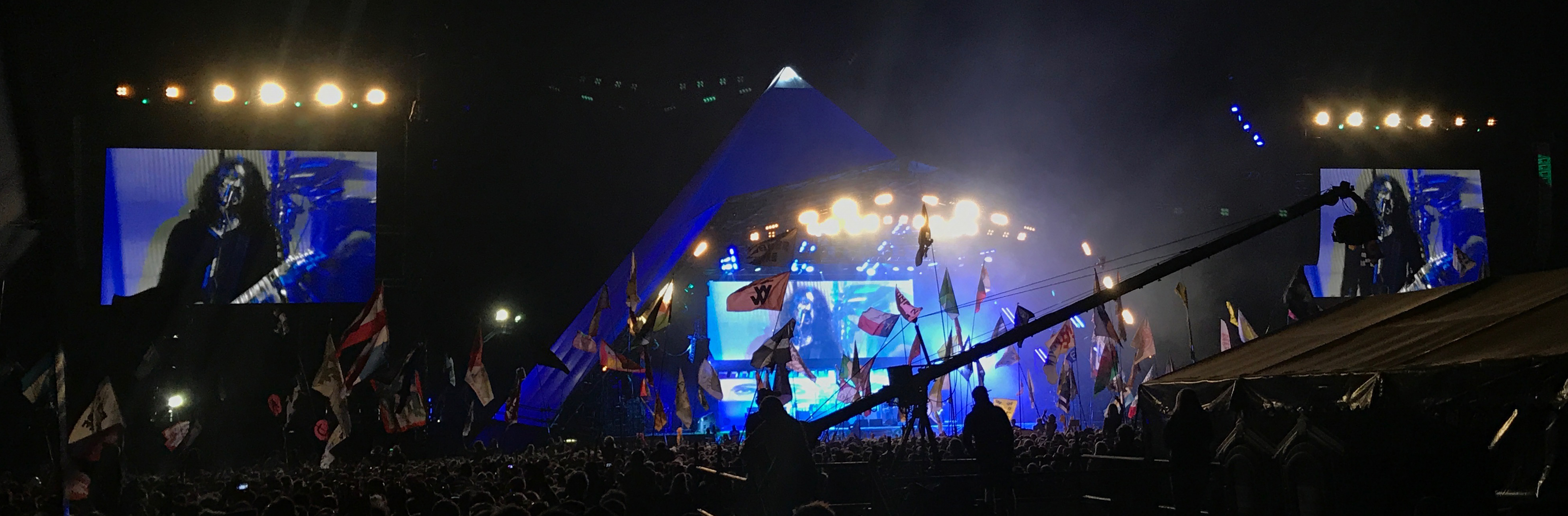 Dave Grohl being amazing on the Pyramid Stage with Foo Fighters
