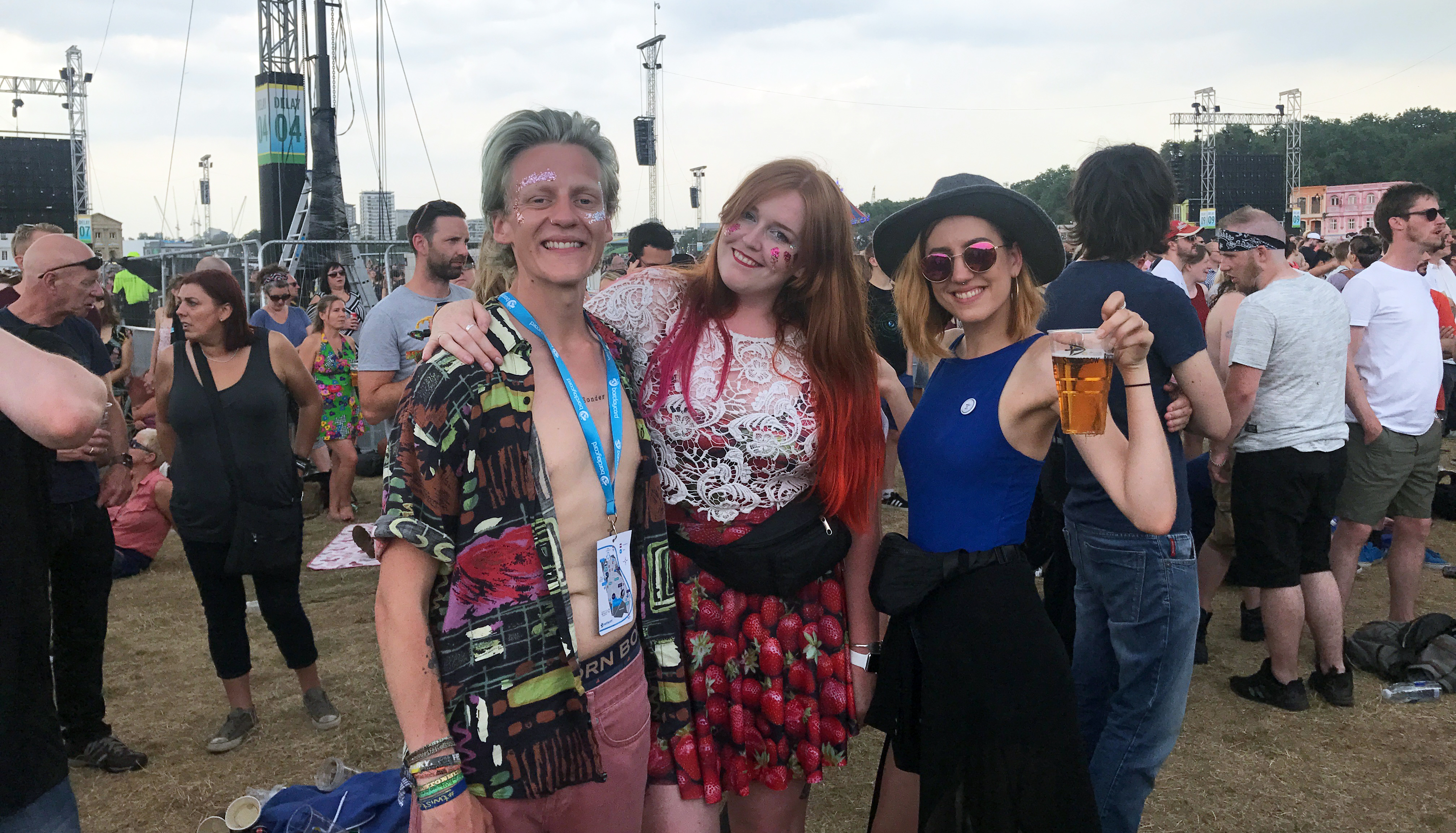 Thom Lily and I before the Pixies