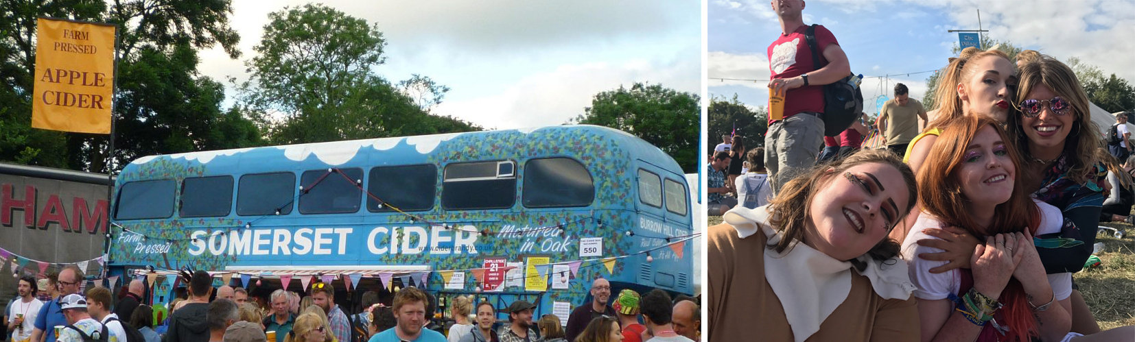 The busy Somerset Cider bus