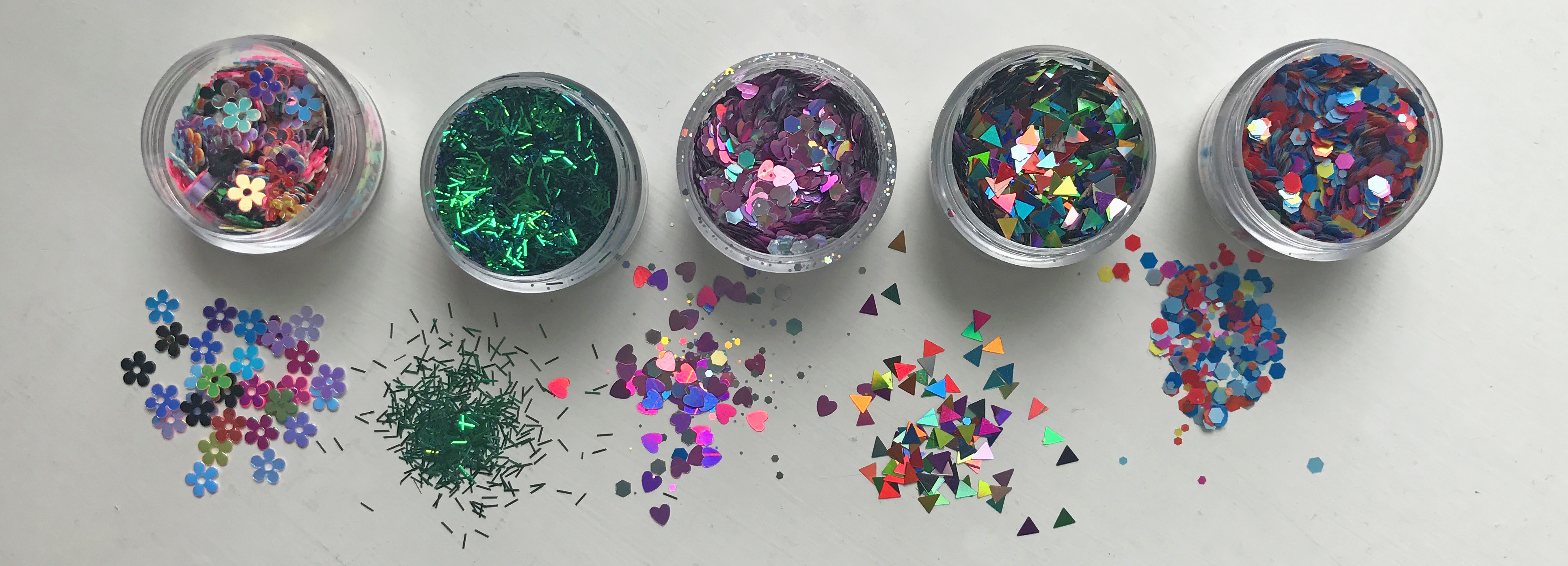 The full Bestival glitter collection from Dust and Dance