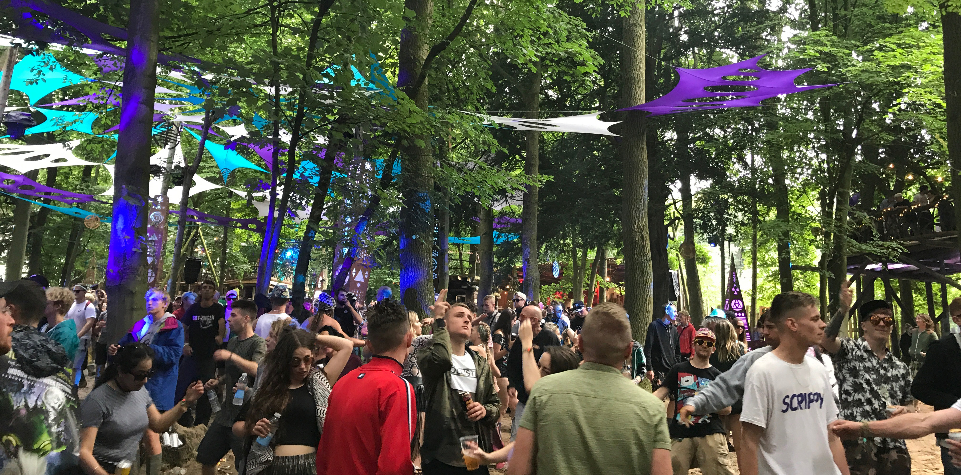 The Psytrance Forest at Boomtown Fair 2017 UK festival