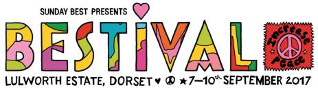 Bestival 2017 logo festival of colour Lulworth estate