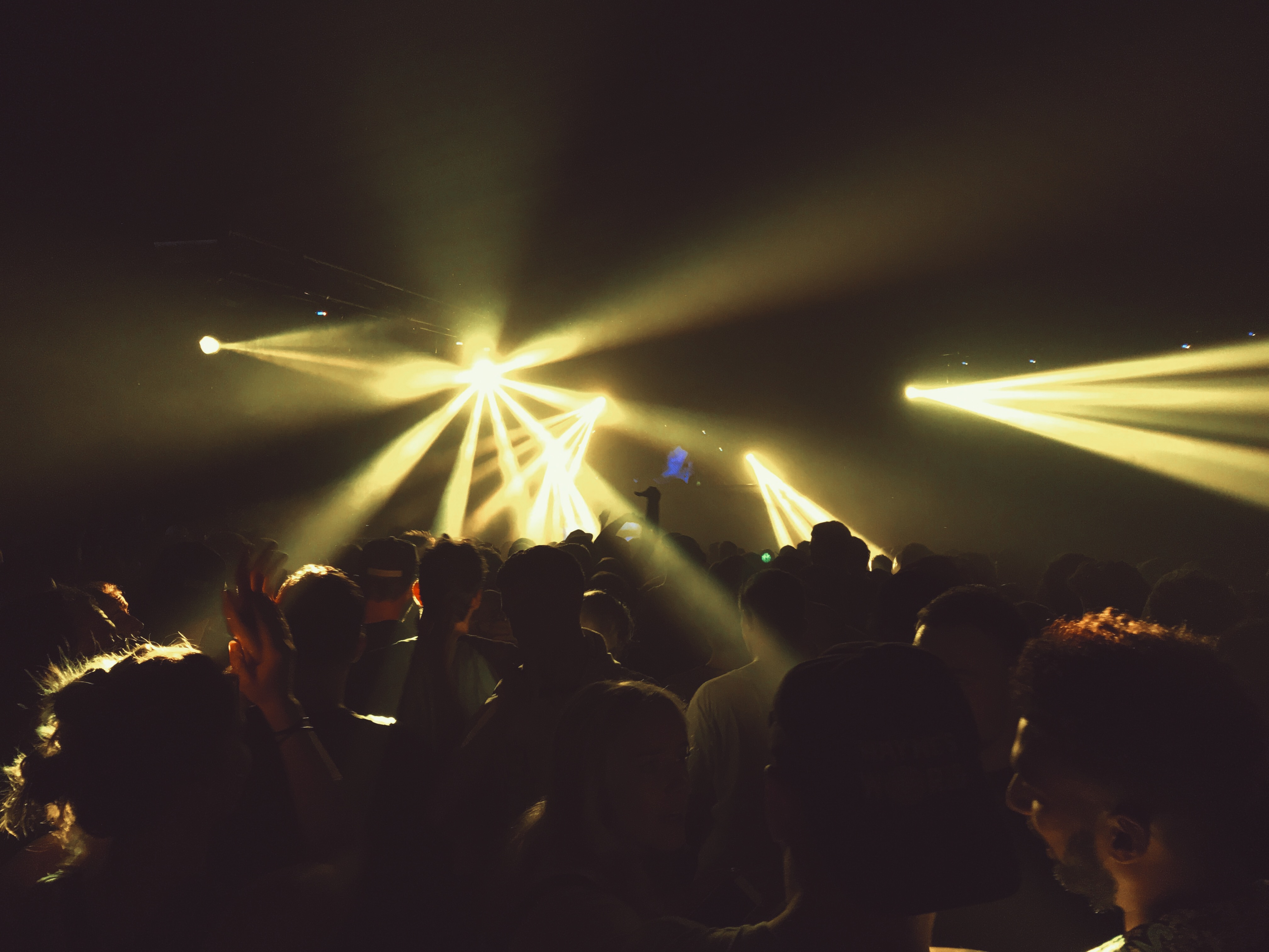 A shot of the excited crowd at B2B Metrik UK festival