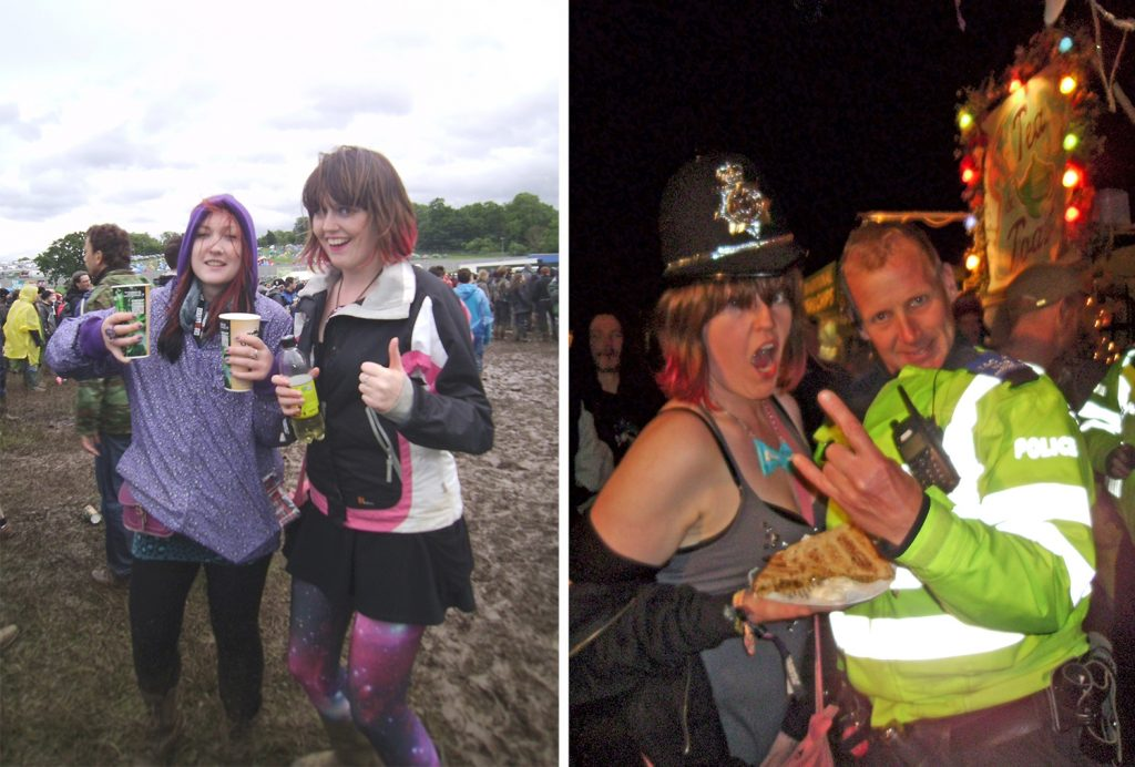 More throwback photos of me at Download festival in 2012, the first to be nicknamed Drownload. The Second photo is me with one of the Download Police. Lovely guys!