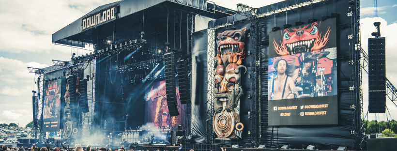 Photo taken from Download's website gallery, the Main Stage during Airbourne's set in 2017