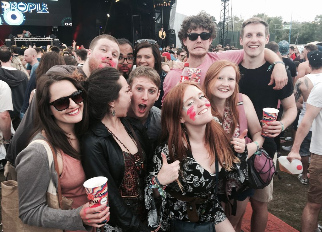 My friends and I at Common People in 2015 by the main stage