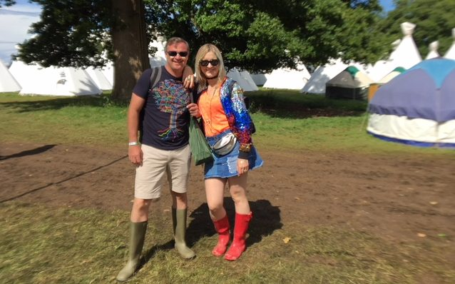 Jodie and her Husband looking glam at Wilderness festival